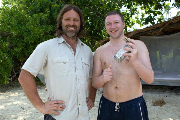 Christer Falck og Ken Rune Berg, fra Robinson-innspillingen.